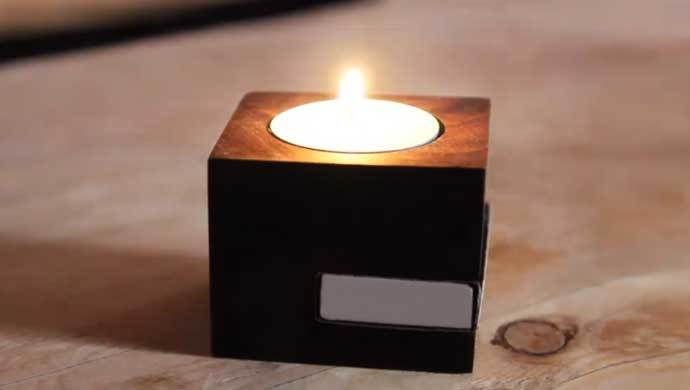 DIY candle holder to hold tea light