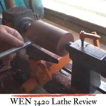 100% controllable WEN 3420 lathe review